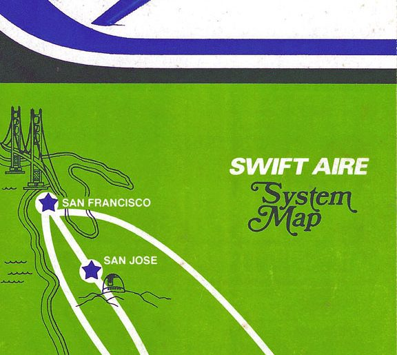 Swift Aire Timetables & Routemaps 01-01-1981